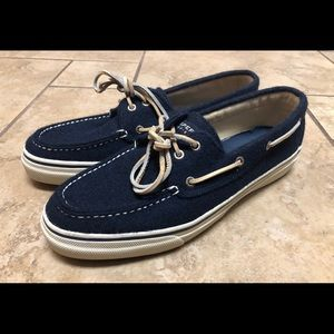 Sperry Top Sider Men's Wool Navy Blue Boat Shoes